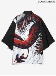 Marvel Spider-Man Venom Print Drop Shoulder Kimono Cardigan -