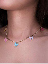 Colorful Butterfly Acrylic Pendant Necklace -