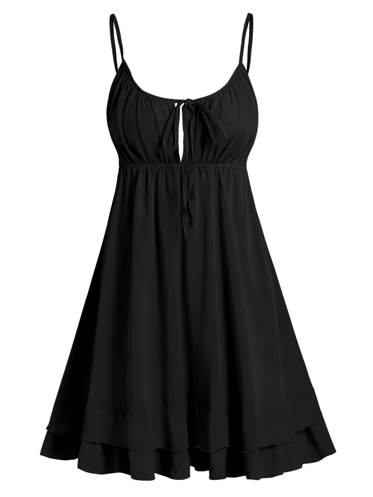 Sale Open Back Tie Knot Cami Dress