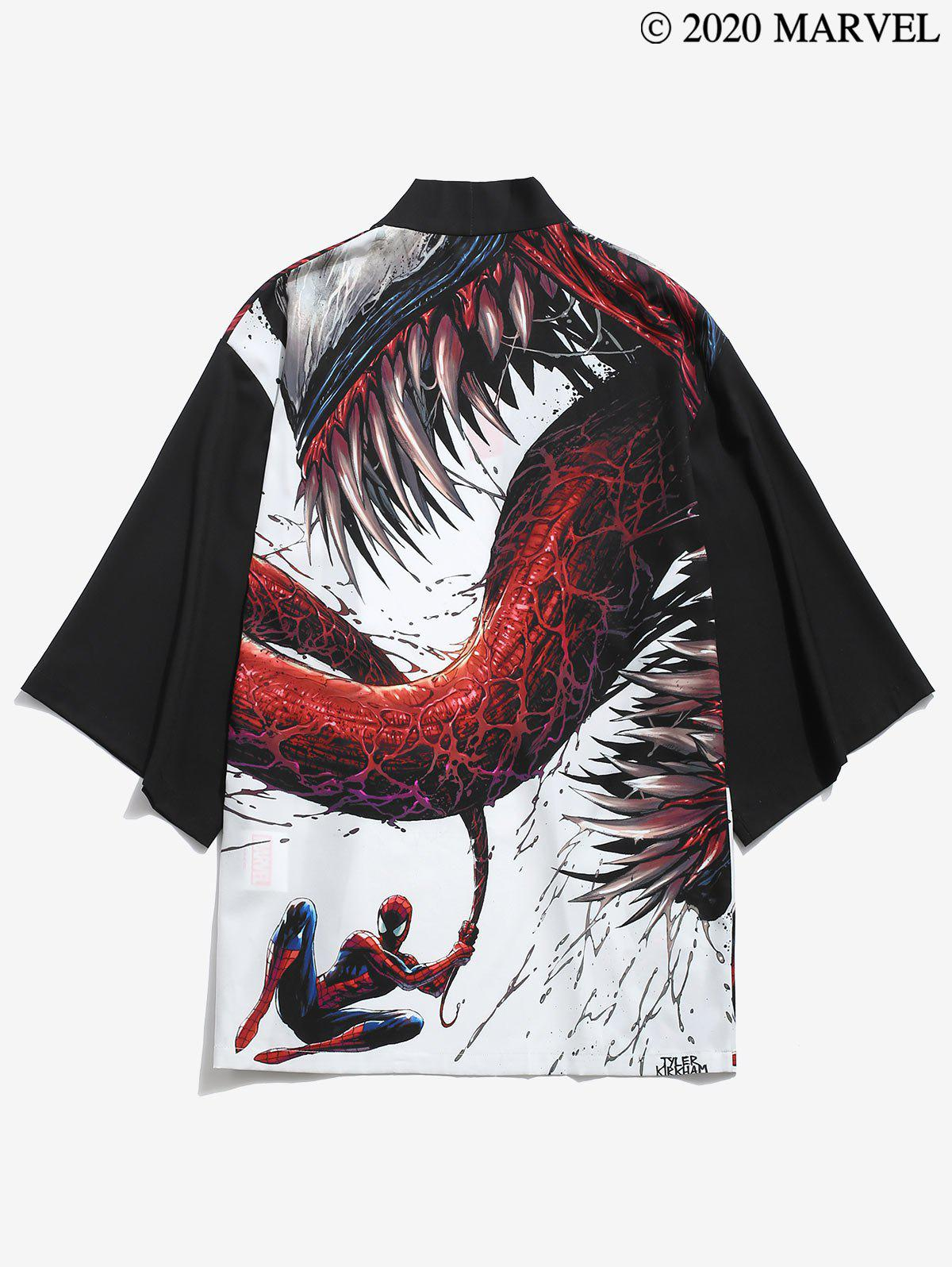 Sale Marvel Spider-Man Venom Print Drop Shoulder Kimono Cardigan