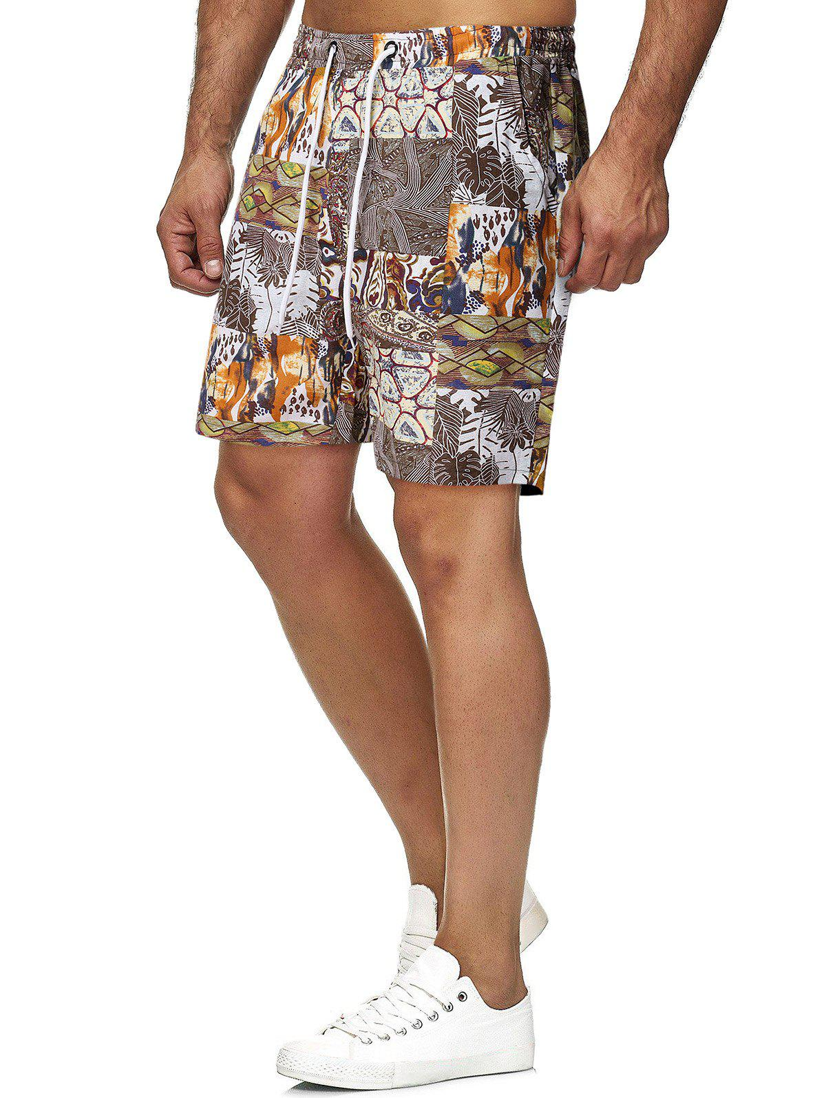 Short de Plage Graphique Plante Imprimé Multi 2XL