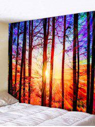 Sunset Forest Print Tapestry Wall Hanging Art Decor -