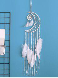 Home Decoration Crescent Shape Beaded Feather Dream Catcher -
