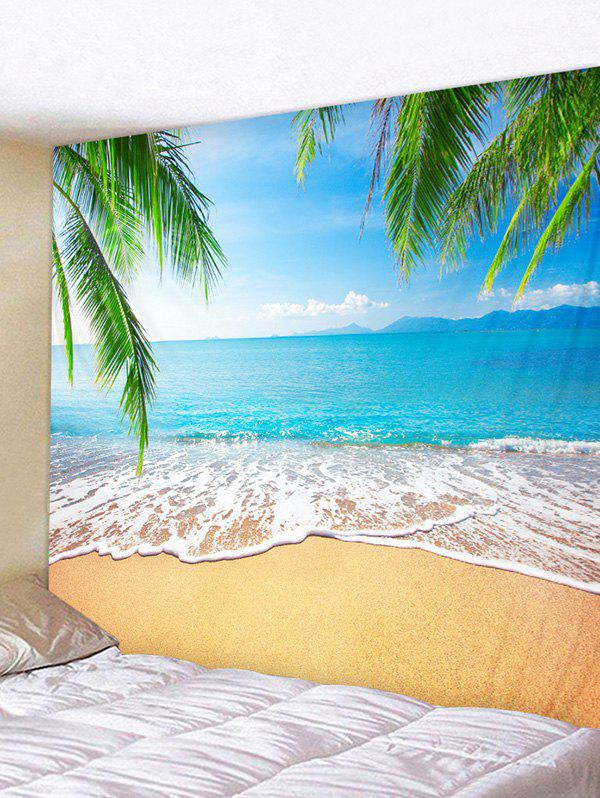 Palm Leaves Beach Print Tapestry Wall Hanging Art Decoration, Multi