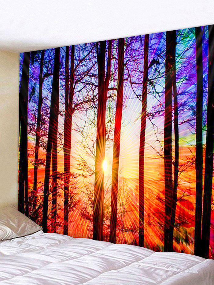 Outfits Sunset Forest Print Tapestry Wall Hanging Art Decor