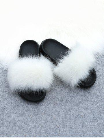 Faux Fur Casual Flat Slides