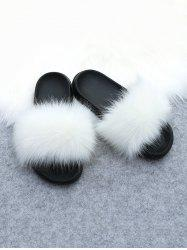 Faux Fur Casual Flat Slides -