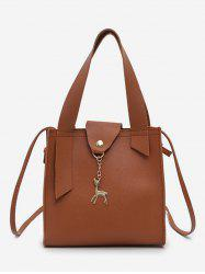Deer Charm Mini Bucket Crossbody Bag -