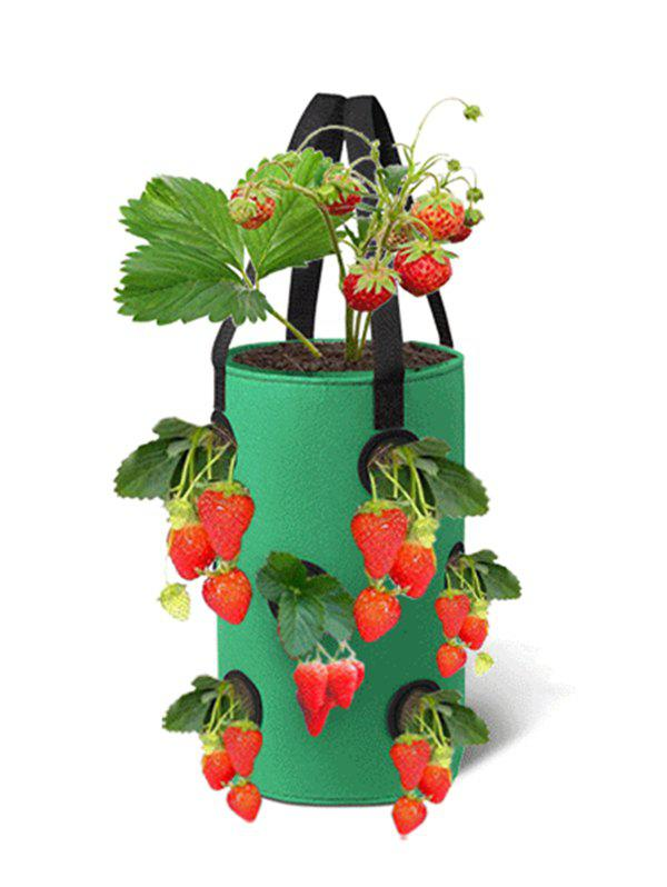 Sale 12 Holes Strawberry Planting Basket Non-woven Hanging Bag