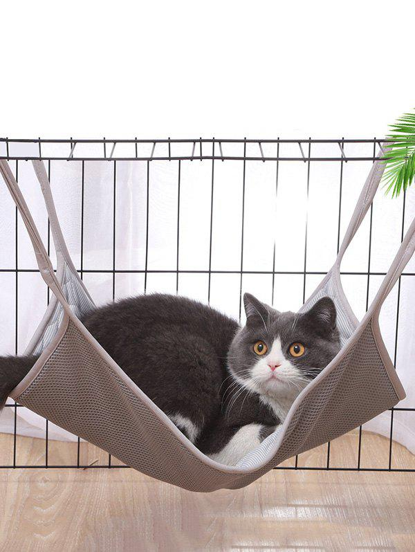 Breathable Cat Hanging Bed Cat Mesh Hammock, Gray