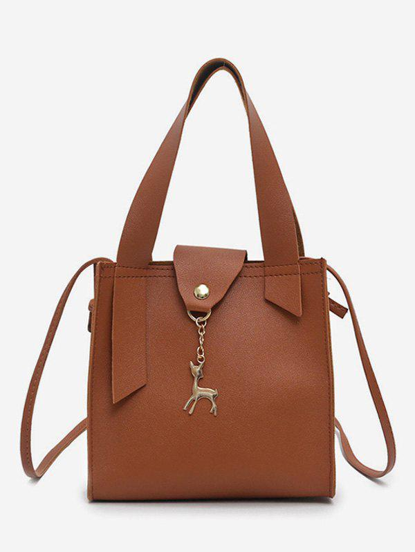 Best Deer Charm Mini Bucket Crossbody Bag