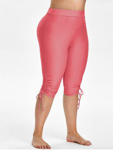 Plus Size Cinched Capri Swim Pants