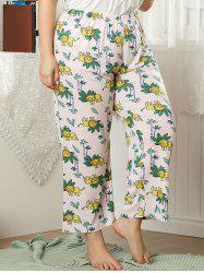 Plus Size Cartoon Lions Print Pyjama Bottoms -