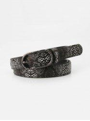 Snakeskin Pattern Jeans Pin Buckle Belt -