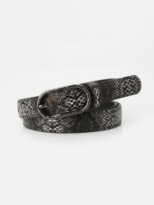 Fashion Snakeskin Pattern Jeans Pin Buckle Belt
