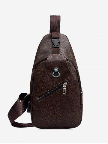 Retro PU Bolso de Crossbody - DEEP COFFEE