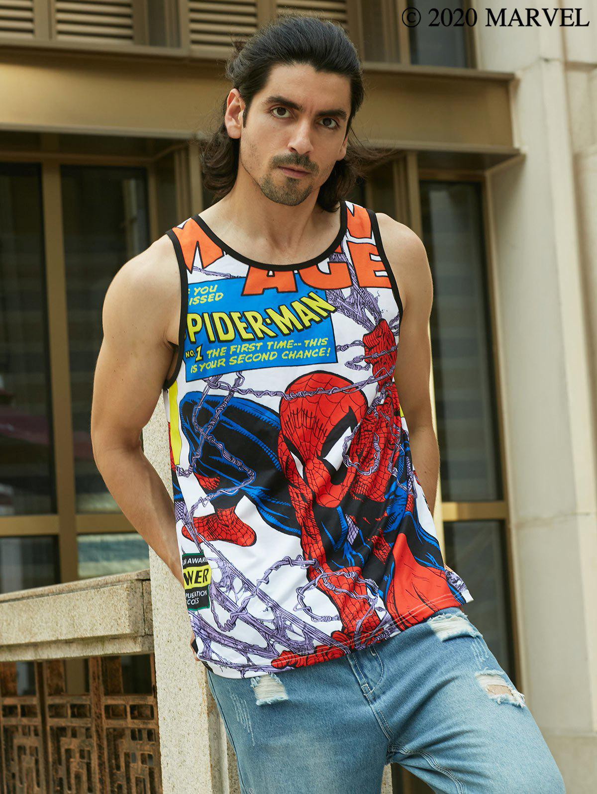 Hot Marvel Spider-Man Allover Print Tank Top