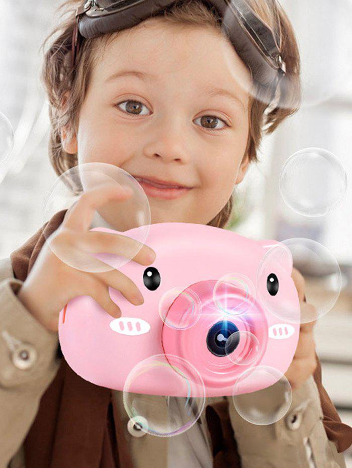 Latest Cartoon Piggy Flash Bubble Camera Toy
