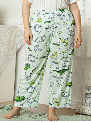 Plus Size Cartoon Animal Print Pajama Pants -