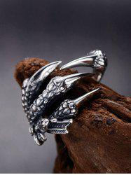 Stainless Steel Dragon Claw Open Ring -