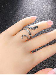 Punk Carved Snake Wrap Silver Plated Ring -