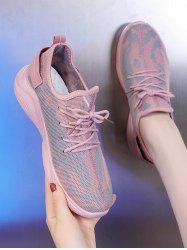 Lace Up Mesh Breathable Camo Sneakers -