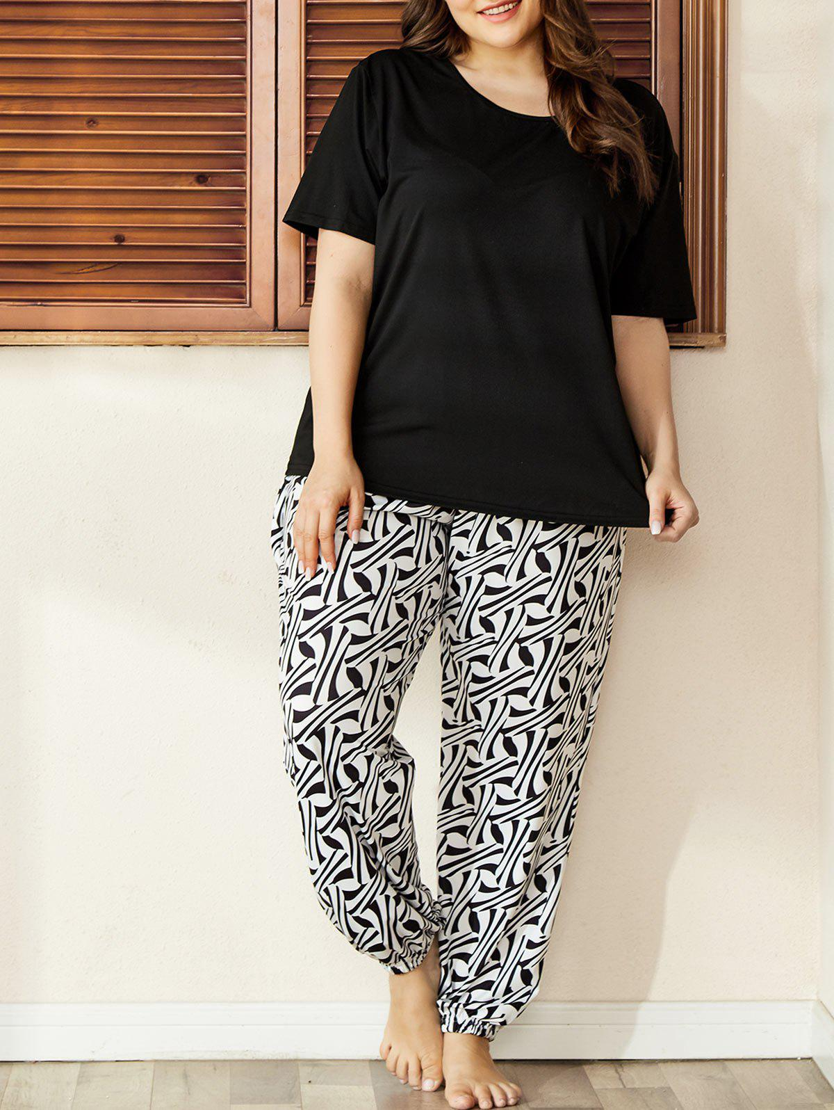 Buy Plus Size Printed PJ Set