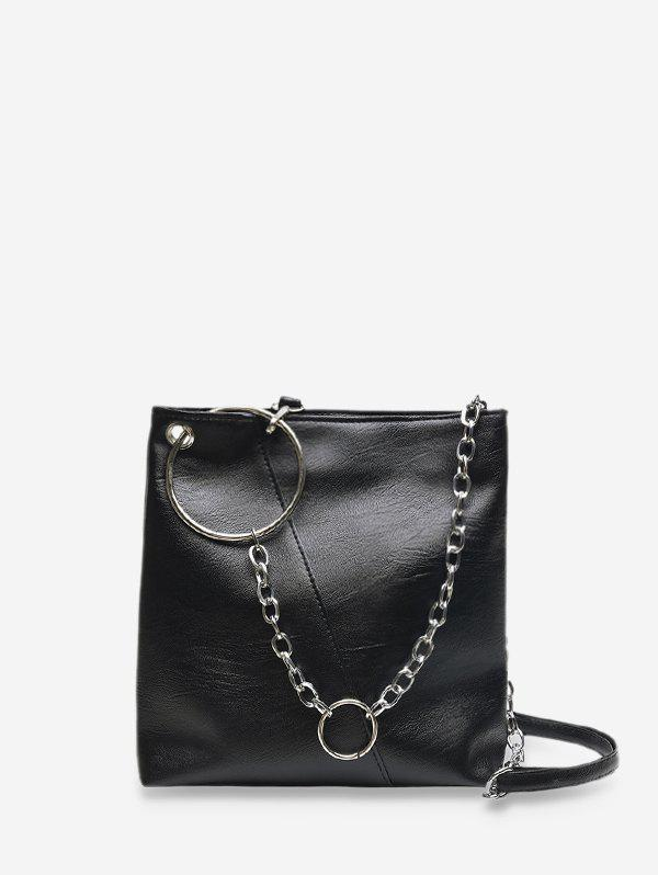 Hot O-ring Chain Leather Crossbody Bag