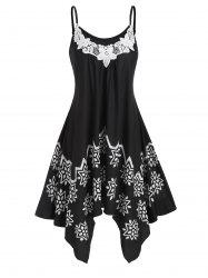 Flower Applique Cami Handkerchief Dress -