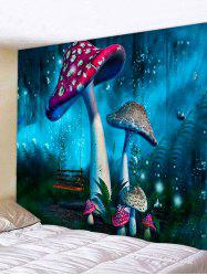 Forest Mushrooms Print Tapestry Wall Hanging Art Decoration -
