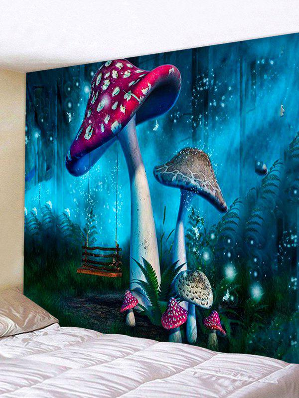 Fashion Forest Mushrooms Print Tapestry Wall Hanging Art Decoration