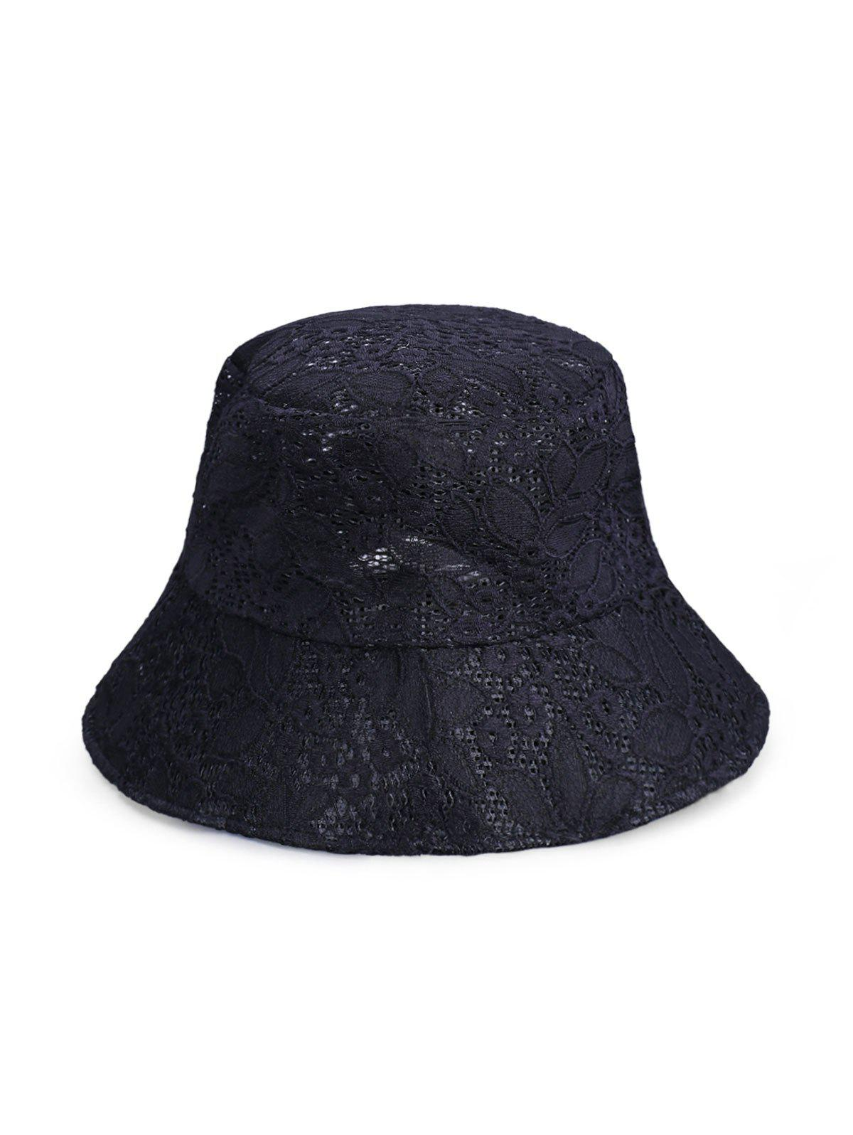 New Floral Pattern Lace Bucket Hat