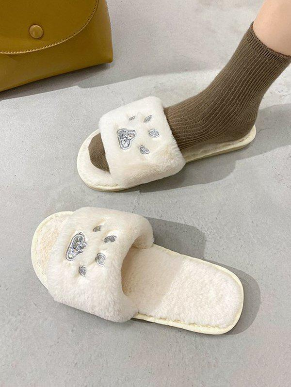 Sale Indoor Cozy Faux Fur Cute Pattern Slippers