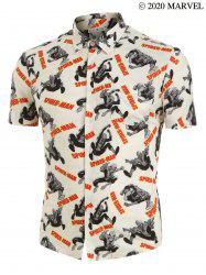 Marvel Spider-Man Graphic Button Up Shirt -