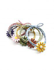 5Pcs Daisy Double Layers Elastic Hair Tie Set -