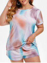 Plus Size Tie Dye Pajama Set -