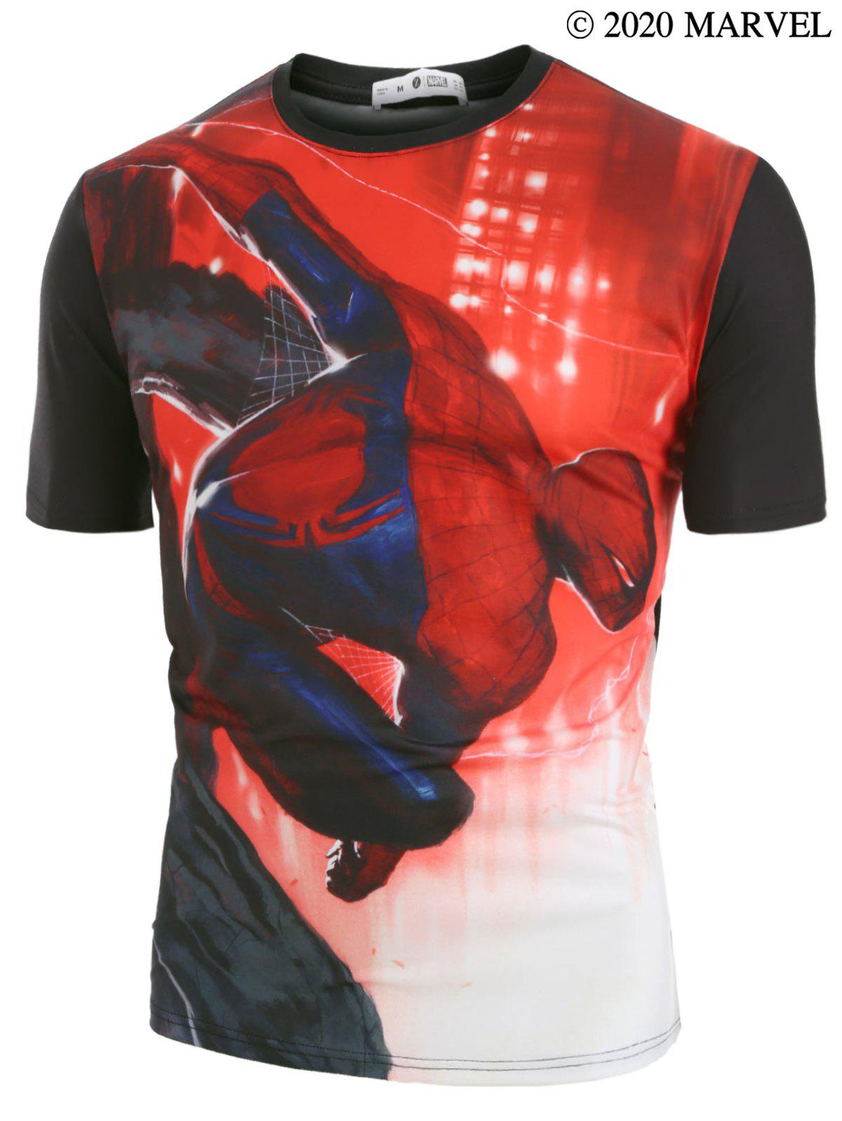 Affordable Marvel Spider-Man Print Short Sleeve T-shirt