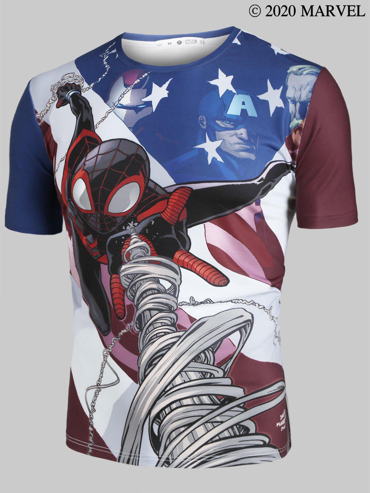 Outfit Marvel Spider-Man Pattern Short Sleeve T-shirt