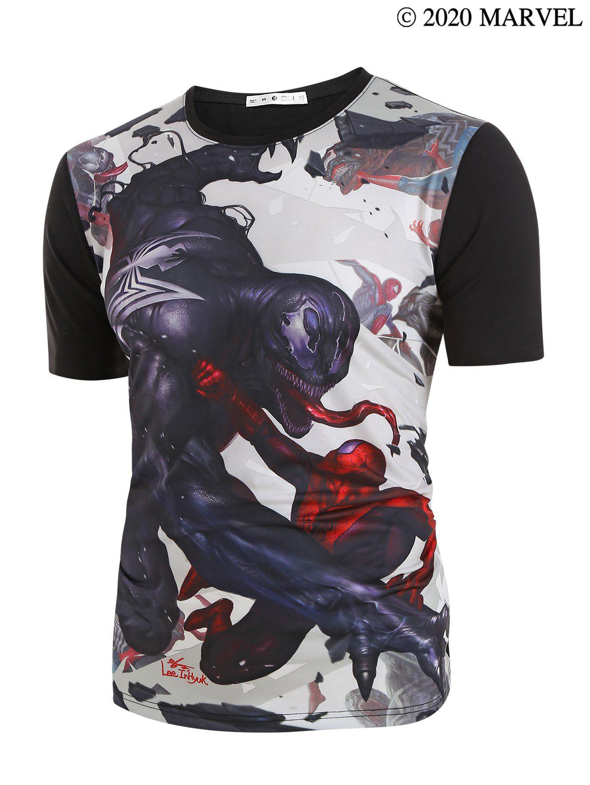 Store Marvel Spider-Man Venom Cartoon Character Printed Short Sleeves T-shirt