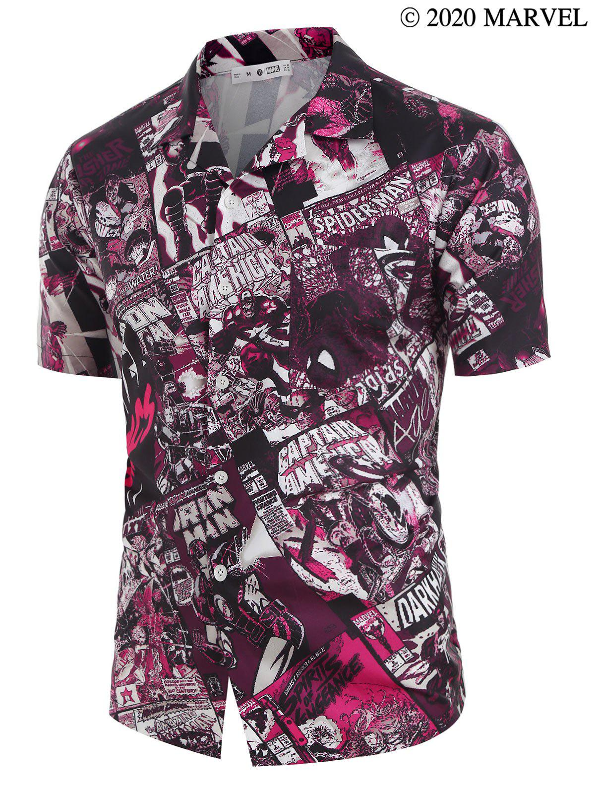 Online Marvel Spider-Man Comics Print Button Down Shirt