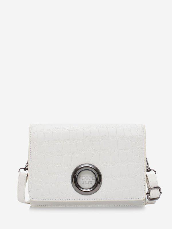 Outfit Animal Embossed O-ring Leather Crossbody Bag
