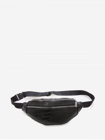 Animal Embossed Leather Chest Bag
