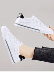 PU Leather Casual Low Top Skate Shoes -