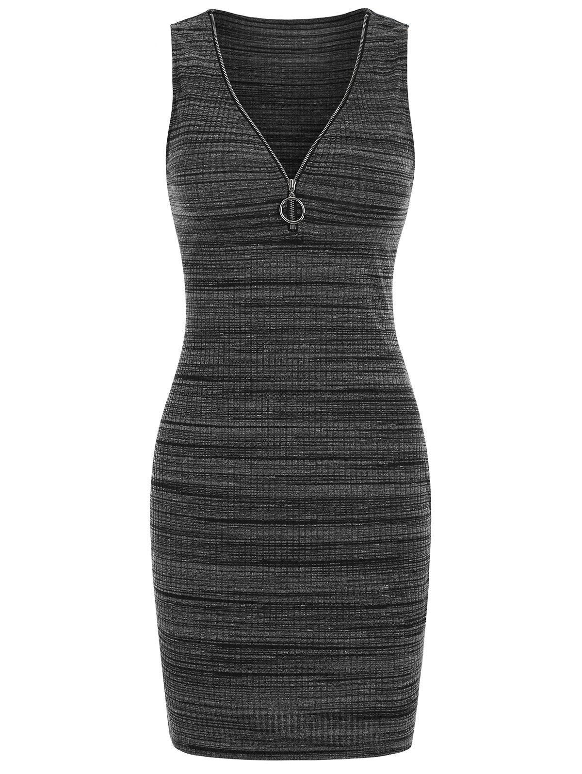 Outfit O-ring Pull Mini Sleeveless Bodycon Dress