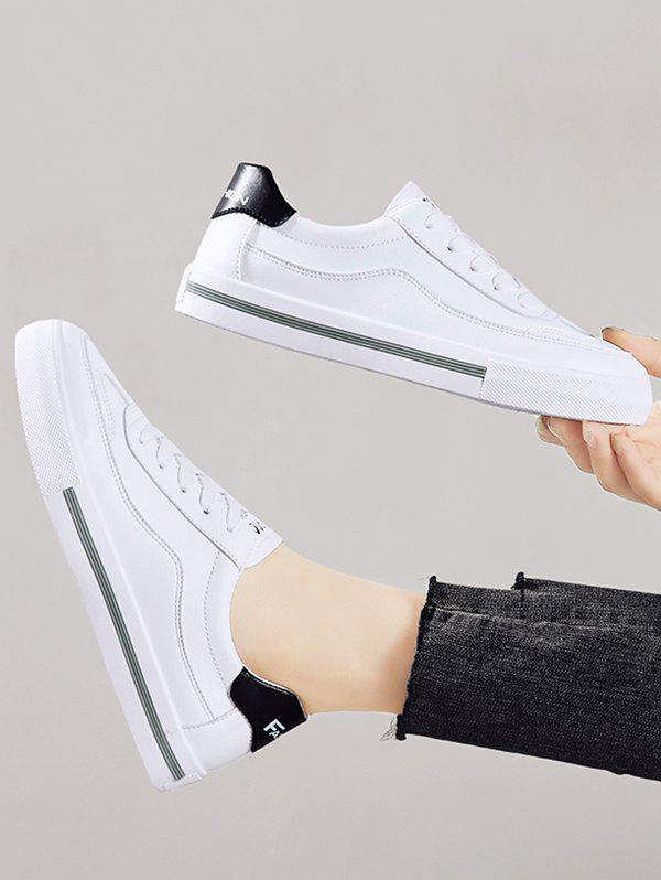 Discount PU Leather Casual Low Top Skate Shoes