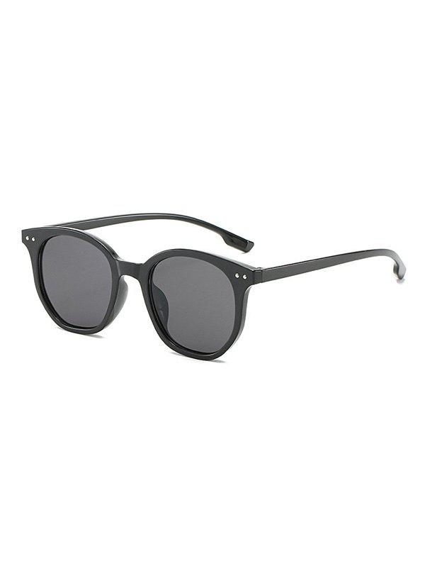 Chic Retro Rivet Outdoor Round Sunglasses