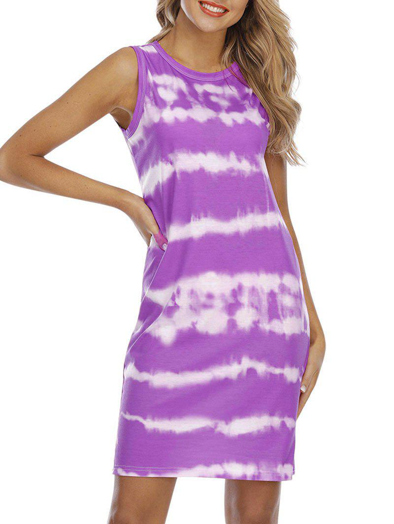 Outfits Tie Dye Sleeveless Casual Dress