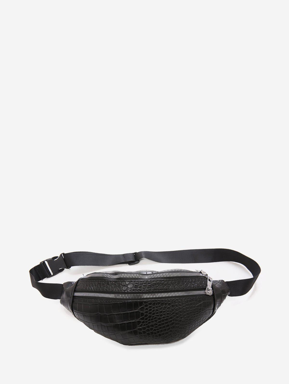Online Animal Embossed Leather Chest Bag