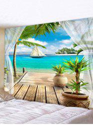 Beach Landscape Print Home Decor Wall Tapestry -
