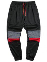 Drawstring Contrast Tapered Jogger Sweatpants -